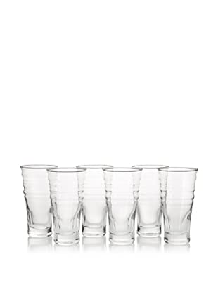 La Rochère Set of 6 Frisson Décor 16.5-Oz. Smoothie Glasses