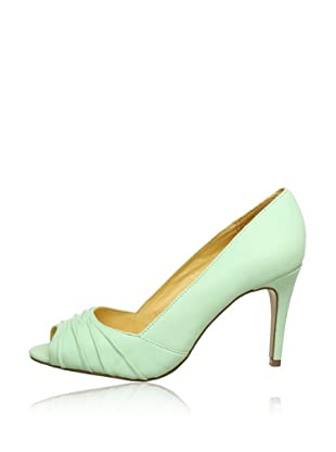 Buffalo London 112-3151 KID LEATHER 143310 - Peep Toes de cuero  mujer (Verde)