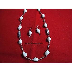 Unique Dazzling Beads Dazzling White Necklace