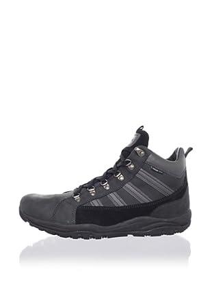 Geox Men's Uomo Alpi Boot (Black/Dark Grey)