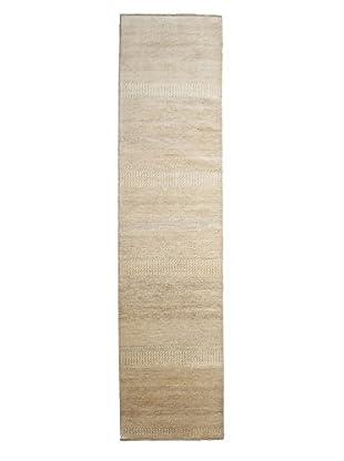Darya Rugs Modern Oriental Rug, Beige, 3' x 12' 4