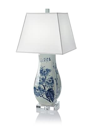 Emissary Square Floral Table Lamp