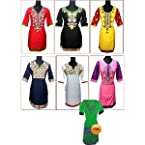 Asmitas Collection Designer Kurtas - Pack Of 6