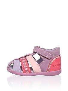 Kickers Kid's Babysun Sandal, Lilac, 19 M EU (4 M US Toddler)