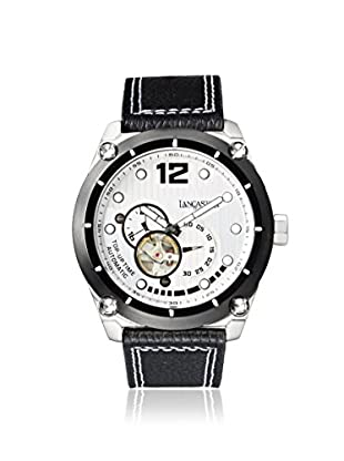 Lancaster Men's OLA0383L/BN Top Up Time Black/White Stainless Steel Watch