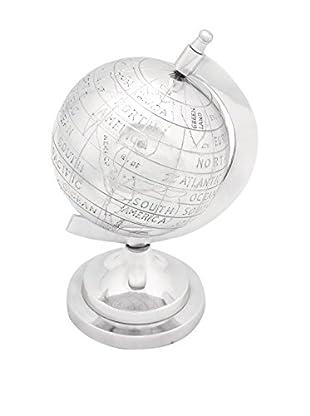 Aluminum Décor Globe, Silver