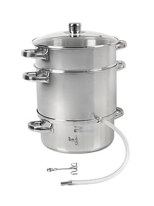 Crealys Set de cocción al vapor con extractor inox satinado