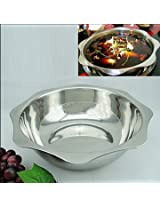 1pc Thick stainless steel hot pot cooker 30cm
