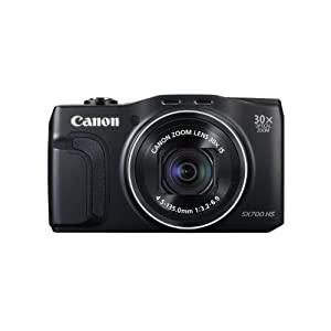 Canon PowerShot SX700 HS 16.1 MP Point and Shoot (Black) with 30x Optical Zoom