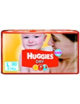 Huggies Dry Diapers Large Size (30 Count)