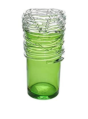 Jozefina Art Glass Stylish Vase Green, Green/Clear Wires