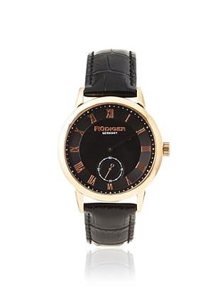 Rudiger Men's R3000-09-007L Leipzig Rose Gold Black Dial Watch