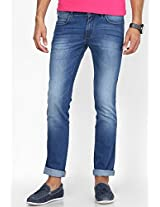 Light Blue Slim Fit Jeans(Skanders) Wrangler