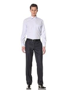 GF Ferré Men's Stripe Dress Shirt (Blue/White)