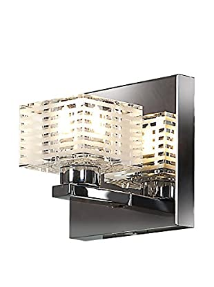 Access Lighting Sophie 1-Light Sconce, Chrome/Clear-Frosted