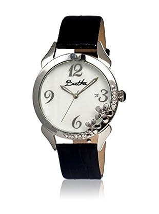 Bertha Uhr mit Japanischem Quarzuhrwerk Daisy schwarz 41 mm