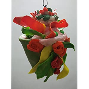 NUCreations Clay Hanging Flower Vase Showpiece