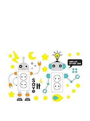 Ambiance Live Wandtattoo Children robots outlet mehrfarbig