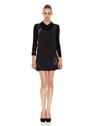 Sidecar Vestido Adela (Negro / Gris)
