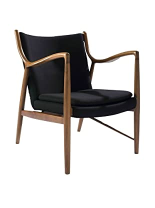 Euro Home Collection Syracuse Chair, Walnut