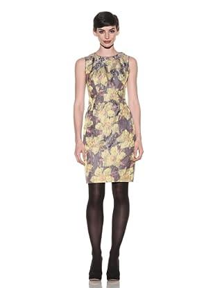 Magaschoni Women's Sleeveless Brocade Dress (Metallic Brocade)