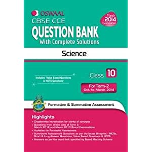 Oswaal CBSE CCE Question Bank with Complete Solutions: Science for Class 10, Term II