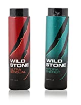 Wild Stone Ultra Sensual & Hydra Energy Talcum Powder 100g - Pack of 2