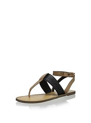 Kelsi Dagger Women's Static Dress Sandal (Black/Almond)