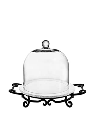 Jay Imports Mendocino Domed Cheese Service (Clear/White)