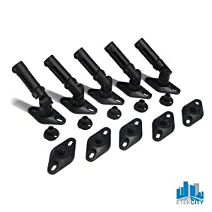 Etekcity 5 Pack Universal Wall Celling Satellite Speaker Brackets Mount Home Theater