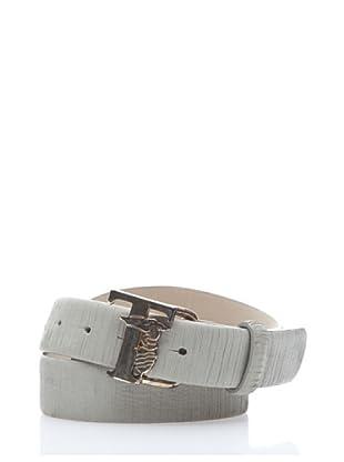 Trussardi Cinturón Grietas (blanco)