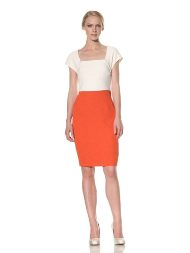Rachel Roy Women's Mixed Media Dress (Fraise)