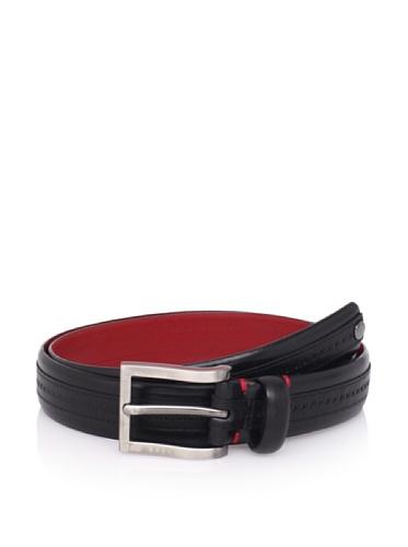 Ted Baker Men's Kitout Stripe Belt (Black)