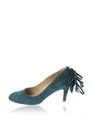 Rue Princesse Zapatos Cheyenne Fransen (Azul)