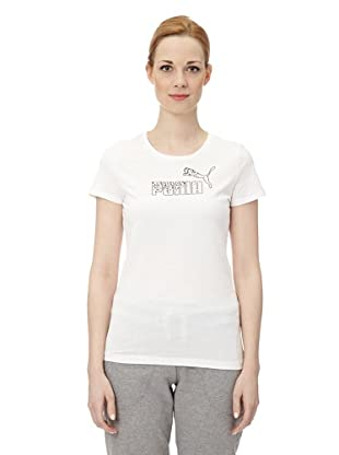 Puma Damen T-Shirt Large Logo (White)
