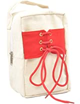 Fair Brigade Red & White Shoe Bag For Kids (Handmade From Canvas)