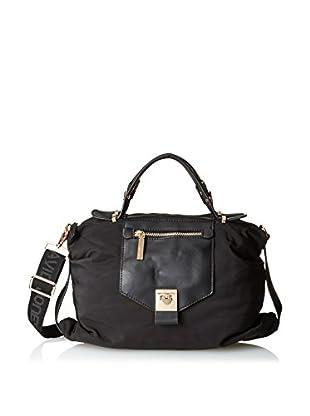 David Jones Women's Nylon Duffel Bag, Black