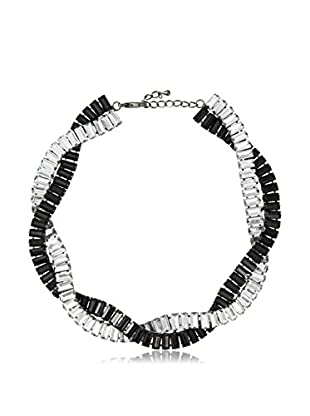 Stella & Ruby Woven Crystal Baguette Necklace