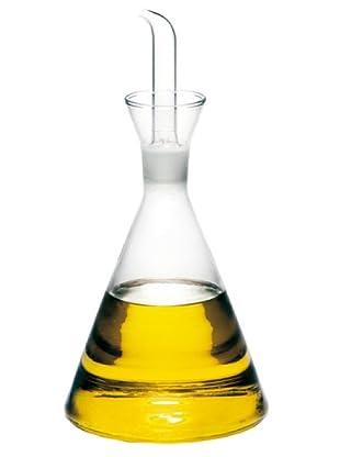 Supreminox Aceitera de cristal reforzado de 250 ml con tapón vertedor