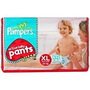 Pampers Active Baby Pants XL 32 Size