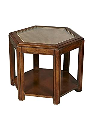 2-B-Modern 1960s Caned-Top Side Table, Multi