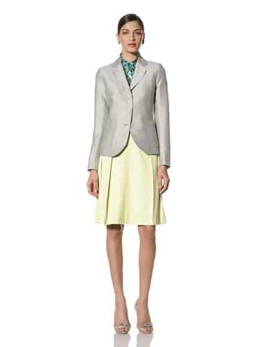 Jonathan Saunders Women's Windsor Polka Dot Fitted Jacket (Steel/Sherbet)