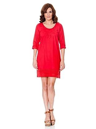 Cortefiel Vestido Encaje (Rojo)