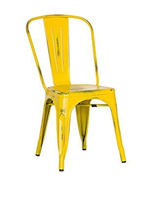 LO+DEMODA Set Silla 2 Uds. Antique Terek Vintage Amarillo