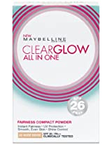 Maybelline Clear Glow Powder, Nude Beige, 9 g