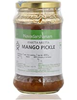 Navadarshanam Homemade Khatta Meetha Mango Pickle, 400 grams