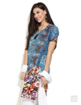 Flower Pond Summer Kurta -Multi Colour-Xl