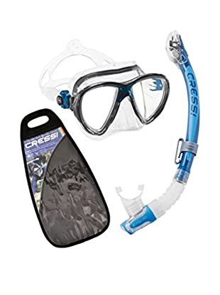 Cressi Set Taucherbrille + Tubo Schnorchel Big Eyes Evolution & Kappa