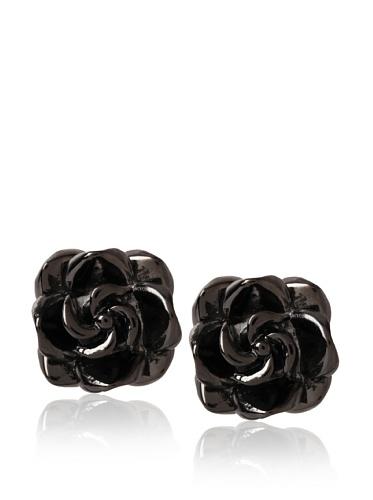 Tuleste Market Rosette Stud Earrings, Gunmetal