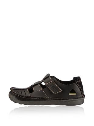 Clarks Leder Sandale Mantal Free (Schwarz)